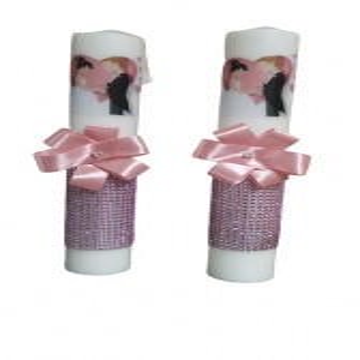 Set lumanari nunta,roz