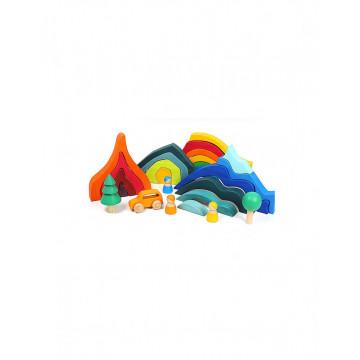 Set Montessori 23 piese Jumbo Rainbow
