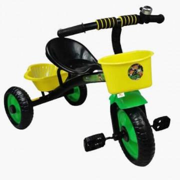 Tricicleta cu pedale, aliaj metalic, 2 cosuri, ghidon ajustabil,Ben Ten,negru,3-5 ani