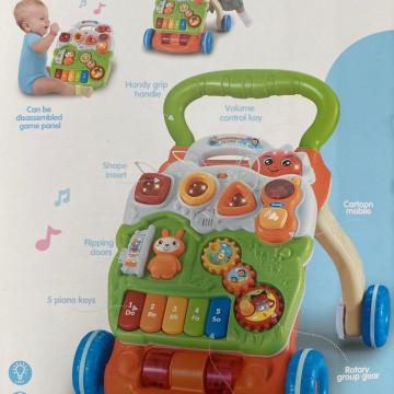 Antepremergator pentru bebe cu jucarii detasabile activitati si pian,P4