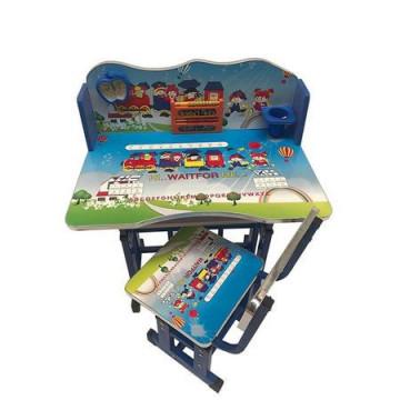 Birou cu scaunel pentru copii, cu numaratoare si suport creioane, pal si metal,4 modele