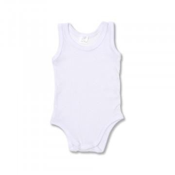 Body bebe maiou alb, 3 luni-2 ani