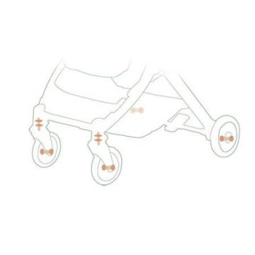 Carucior sport compact, pliere gen troller, pretabil pentru avion, HUG Baby Stone C8, turcoaz