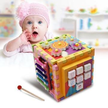 Cub Din Lemn Educativ Cu 6 Activitati