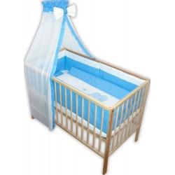 .Lenjerie patut bebe cu 6 piese albastru