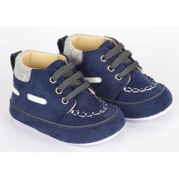 Pantofiori bebelusi, putin inalti, eleganti, bleumarin