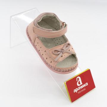 Sandale bebe ortopedice, interior piele,roz