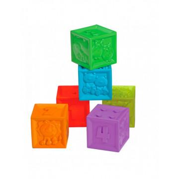 Set 6 Cuburi Siliconate Moi, pentru dentitie sau baita