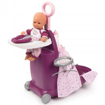 Valiza multifunctionala pentru papusi Smoby Baby Nurse 3 in 1
