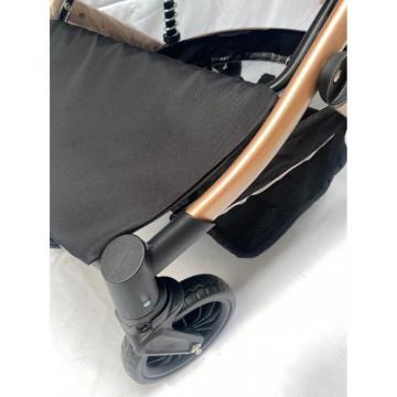 Carucior 3 in 1, maner reversibil, cadru aluminiu foarte usor,suspensii pe roata, T2-G, negru