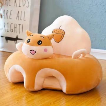 Fotoliu Din Plus Pentru Bebelusi Cu Spatar Confort,Veverita