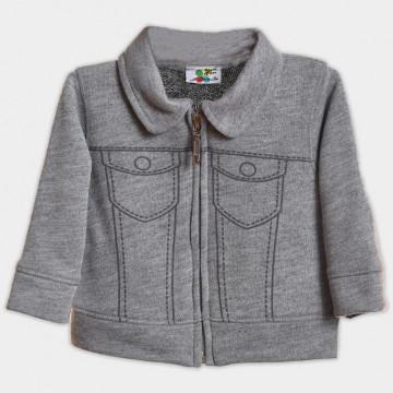 Jacheta cu fermoar pentru baieti. gri