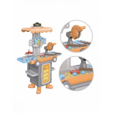 Jucarie interactiva 2 in 1 - vehicul fara pedale si atelier de lucru cu scule