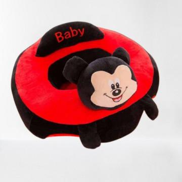 Mickey - Fotoliu din plus pozitionator 45 cm x 45 cm x 15 cm ( latime x lungime)