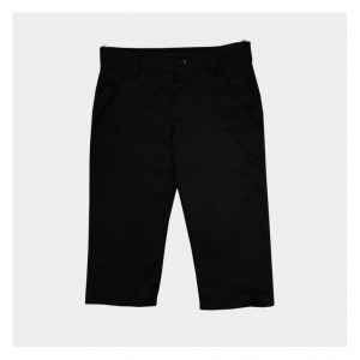 Pantaloni eleganti negri, bumbac tercot