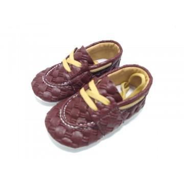 Pantofi bebe, eleganti, burgundy