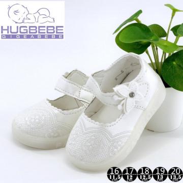 Pantofi fete,alb cu fluturas