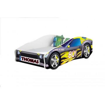 Pat Tineret MyKids Race Car Personalizat(NUME COPIL)-160x80