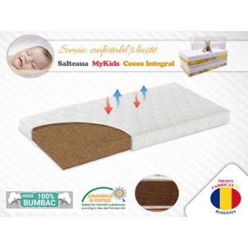 Saltea MyKids Fibra De Cocos Integral 120x60x12 Husa Bumbac Matlasat