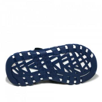 Sandale ortopedice piele, baieti, inchise in fata, HX 143, BLEU
