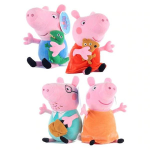 Set 4 Jucarii Din Plus Peppa Pig,30 cm