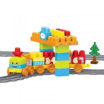Set de constructii cu trenulet - 58 piese