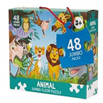 Joc puzzle jumbo de podea,Animal, 48 piese, 90*60 cm