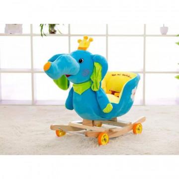 Balansoar Muzical Copii tip Sanie - Elefant Albastru