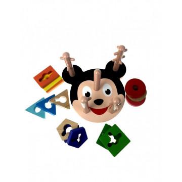 Coloane Sortatoare De Forme Din Lemn 5, Mickey Mouse