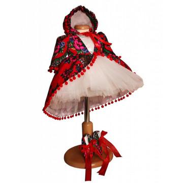 Compleu Eniko - rosu/alb set botez și turtă