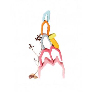 Joc lemn Montessori Curcubeu Rainbow Mountain
