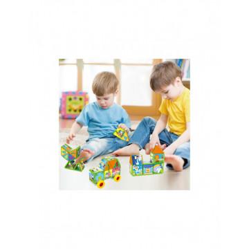 Joc magnetic tip Puzzle 3D 40 piese