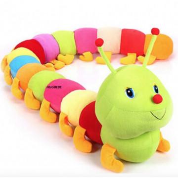 Jucarie din plus - Omida - 180 cm - Multicolora