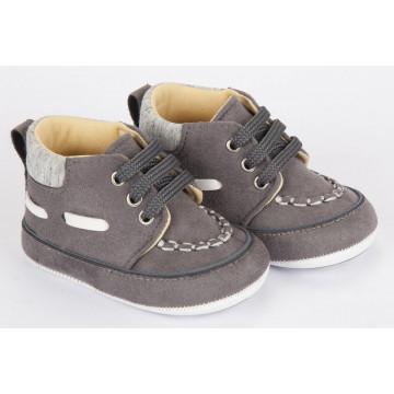 Pantofi bebelusi, putin inalti, eleganti, gri inchis