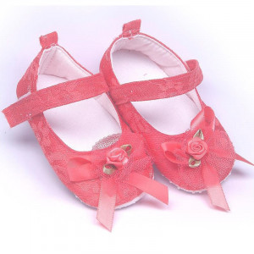 Pantofiori eleganti , pentru botez, fete, roz fucsia