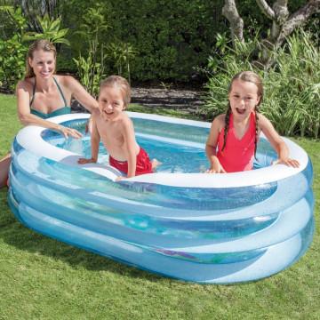 Piscina gonflabila copii ovala Intex Whale Fun