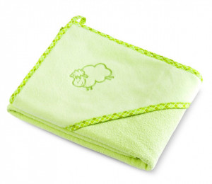 Prosop cu gluga SHEEP 80x80 cm Green