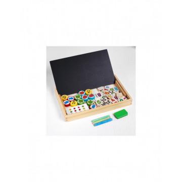 Tabla Montessori 2 fete Calculeaza, memoreaza, deseneaza