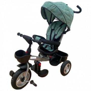 Tricicleta HUG S180 cu scaun reversibil, pozitie de somn, VERDE
