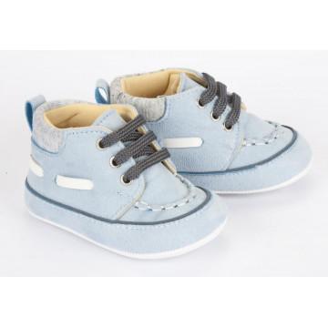 Pantofi bebelusi, putin inalti, eleganti, gri deschis