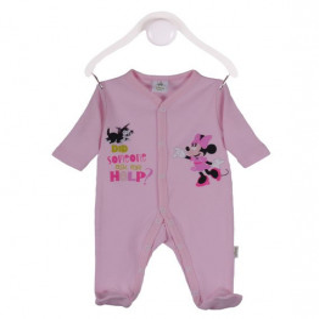Salopeta bebe Danina line, culoare roz