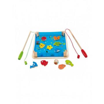 Joc din lemn de pescuit cu magnet