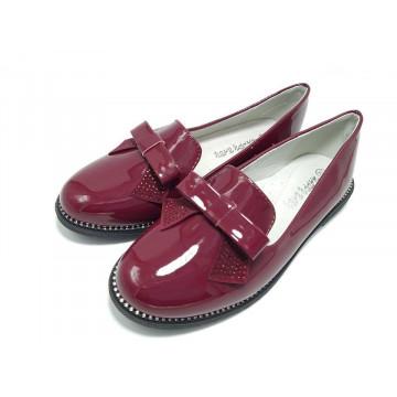 Pantofi eleganti , piele, bordo, 31-36