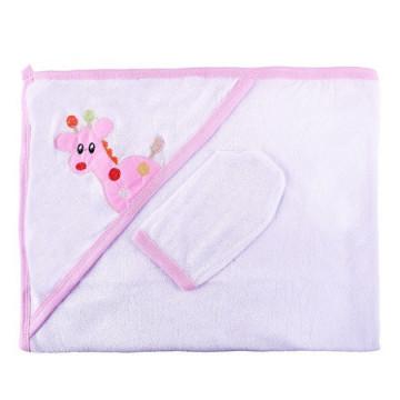 Prosop bebe cu broderie roz, 110*72 cm