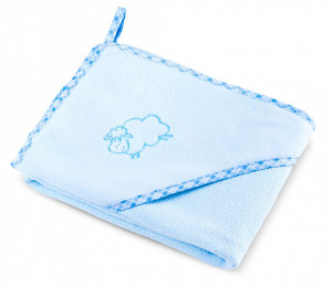 Prosop cu gluga SHEEP 80x80 cm Blue