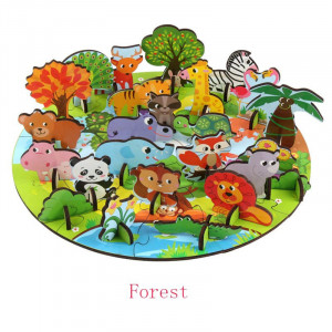 Puzzle 3D Animale Kabi Plug in Puzzle Forest