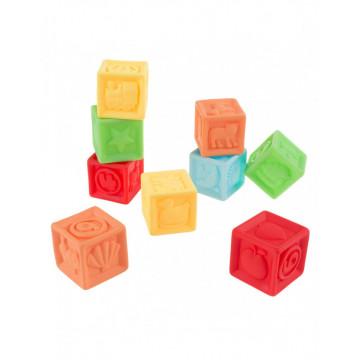 Set 9 Cuburi Siliconate Moi, pentru dentitie sau baita