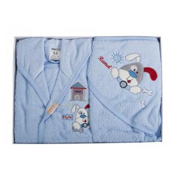 Set de baie pentru copii 2-3 ani,4 piese,Ramel,albastru