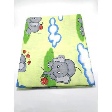 Set lenjerie bebelusi 3 piese,elefant vernil