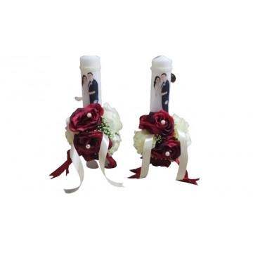 Set lumanari de nunta hug 01